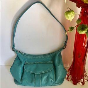 💙 Fossil turquoise leather shoulder bag 💙